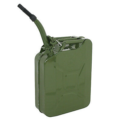 5 Gallon 20l Jerry Can Gasoline Fuel Durable Steel Tank Emergency Backup