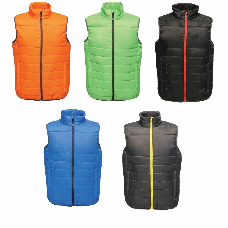 Water Repellent RED BLUE BLACK or GREEN Lightweight Polyester Gilet Bodywarmer