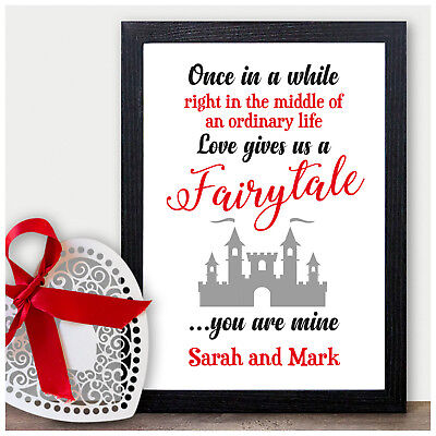 PERSONALISED Valentines Couples Wedding Anniversary Gifts for Girlfriend Her Him ()