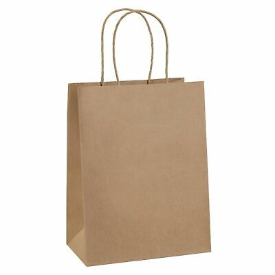 Brown Kraft Paper Gift Bags Bulk with Handles 50Pc Ideal for Shopping New Kraft Paper Gift Bags