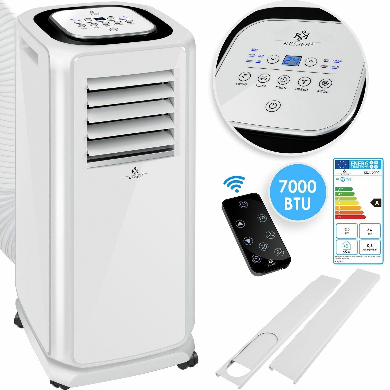 KESSER® Mobile Klimaanlage 7000 BTU 2,3KW 4in1 Klimagerät Klima Ventilator EEK A