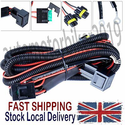 Wiring Loom Harness Kit Front Fog Lights Lamps For 2004-2011 Caddy