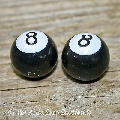 VALVE STEM CAPS MAGIC 8 BALLS HOT ROD RAT CUSTOM LOWRIDER VTG STYLE STREET BOMB