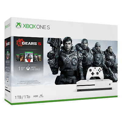 Xbox One S 1TB Gears of War 5 Bundle - Damaged Box [Factory Refurbished]