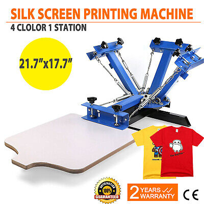 4 Color 1 Station Silk Screen Printing Machine Press Equipment T-shirt Diy Art