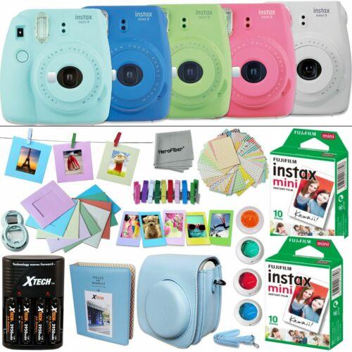 Fujifilm Instax Mini 9 Instant Camera (color) + 20 Sheet Film+Accessory KIT