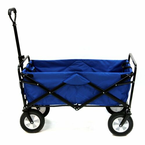 Blue Mac Sports Collapsible Folding Utility Wagon Garden Car