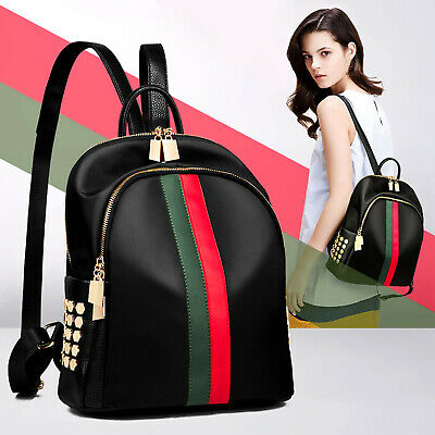 Womens Girls PU Leather Backpack Trendy Pattern Travel Shoulder Bag Rucksack Bag