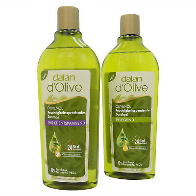 (Grundpr:1L/22,44€) dalan d' Olive 2 x 400 ml Duschgel pflegend + entspannend