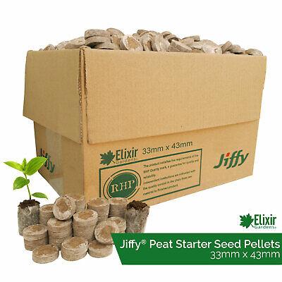 1000 x Jiffy 7 33mm Peat Plug Propagation Pellets