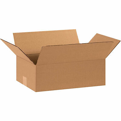 15 X 10 X 5 Flat Cardboard Corrugated Boxes 65 Lbs Capacity Ect-32 Lot Of