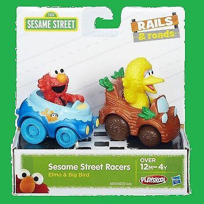 Big Bird and Elmo Action Figure Sesame Street Racers Vehicle Toy Playskool (Elmo Figure)