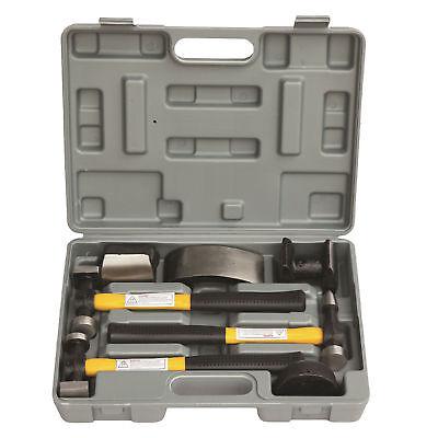 HFS(R) 7 PC Auto Body Fender Repair Tool Hammer & Dolly Set ()