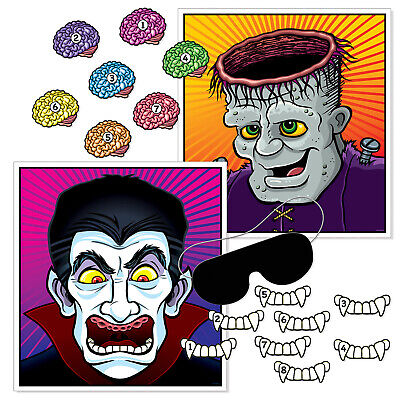 Birthday On Halloween (PIN THE brain / teeth ON THE VAMPIRE FRANKENSTEIN HALLOWEEN birthday Party)