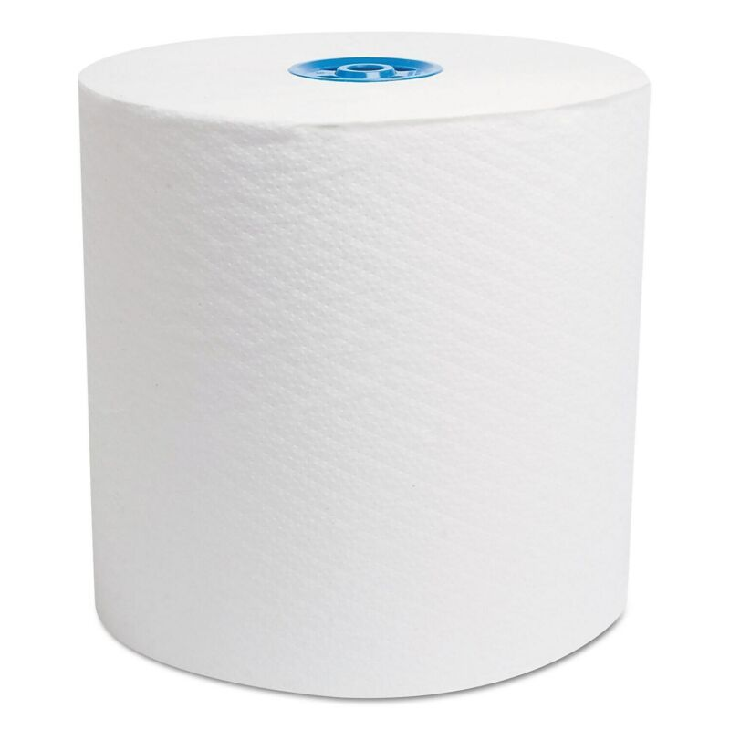 """Cascades Hardwound Roll Towels For Tandem, Ultra White, 7 1/2"""" X 775"""