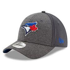 Toronto Blue Jays Shadowed Team 2 39THIRTY Stretch Fit Hat Graphite Medium/Large
