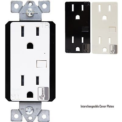 Z-Wave 15A Duplex Repository Wireless Control Outlet (4 pack)