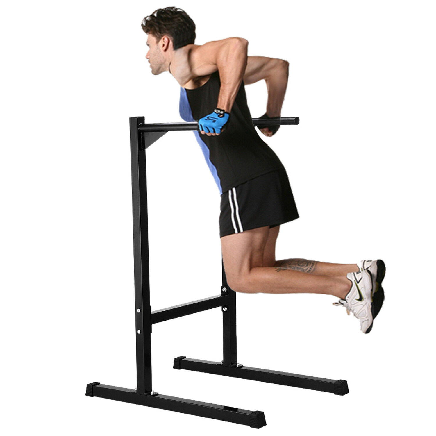 440 lbs Dip Station Parallel Bar Bicep Triceps Shoulder Home Gym Exercise Machin