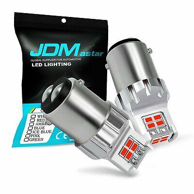 JDM ASTAR 2x 12-SMD 1157 BAY15D Red LED Bulb Brake Stop Tail Signal Light Bulbs