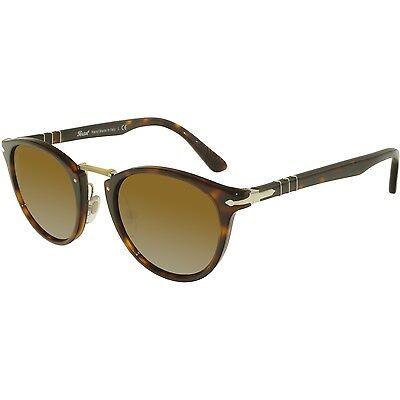 Persol Men's PO3108S-24/33-49 Tortoiseshell Round Sunglasses