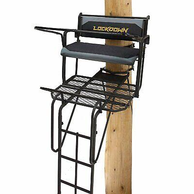 RE650 Rivers Edge Lockdown 21 Ladder Stand 2-Man Big Treesta