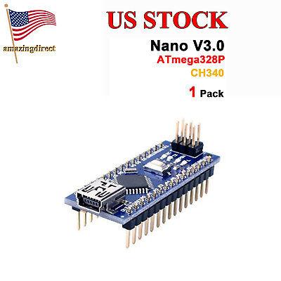 Usa Multipack Compatible For Arduino Nano V3.0 Atmega 328p With Ch340g 5v 16m