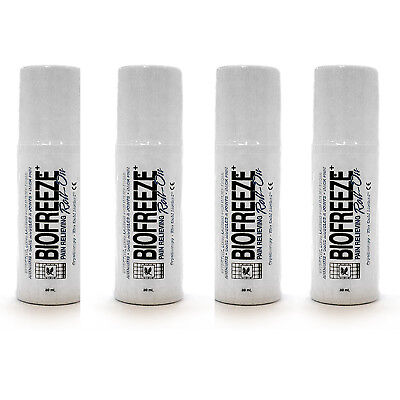 Biofreeze Pain Relief For Arthritis  3 Oz  Roll On Pack Of 4