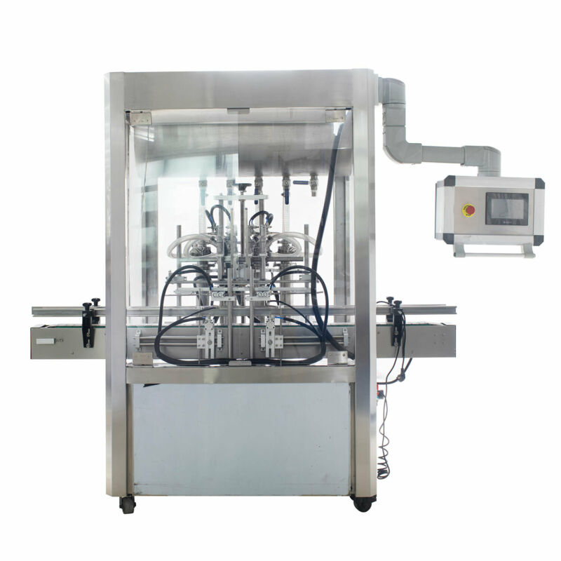 Automatic 4 Heads Paste Filling Machine Rise Up when Filling Types Foam Filler