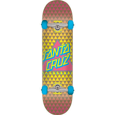 "Santa Cruz Not A Dot Skateboard Complete - 8.0"" Yellow/Pink/Blue"