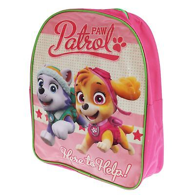 PAW PATROL SKYE AND EVEREST BACKPACK RUCKSACK SCHOOL BAG GIRLS