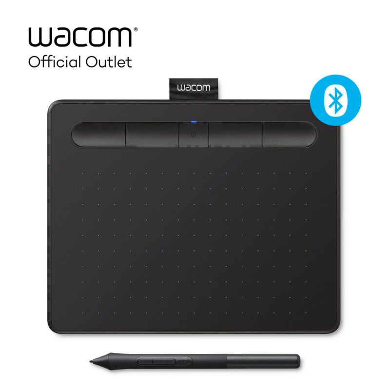 Certified Refurbished Wacom Intuos Small Wireless Graphics Tablet - Black