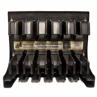 Mag Storage Solutions Pistol and Rifle Magazine Organizer Holder Storage Rack