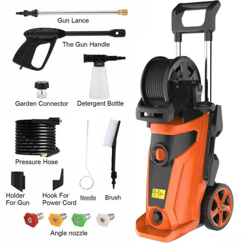 3500 PSI 2.6 GPM Electric Pressure Washer Cold Water Cleaner Auto Jet Machine US