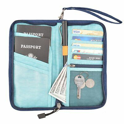 Travel wallet Women Men Passport Wallet ID Card Holder Travel Organizer Wallet