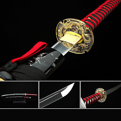 (Dragon Katana,Handmade Full Tang High Carbon Steel Real Japanese Samurai Sword)