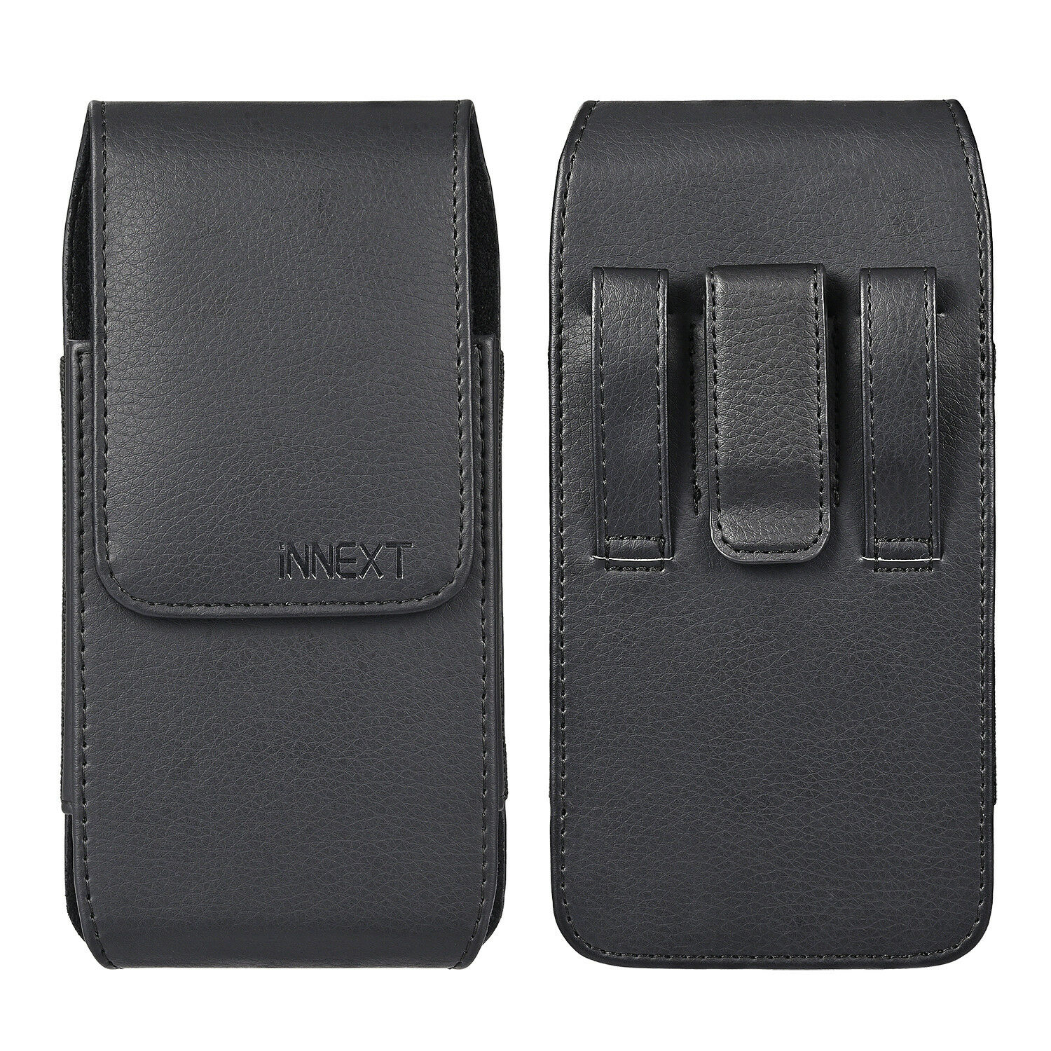 Phones Leather Vertical Case Pouch Belt Clip Loop Holster XL