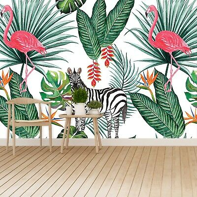 Einfach Zebra (Fototapete Selbstklebend Einfach ablösbar Mehrfach klebbar Zebra und Flamingo)