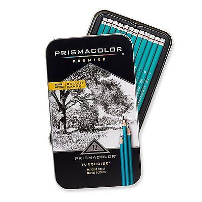 Prismacolor Premier Turquoise Sketching Pencils 12 Medium Pack