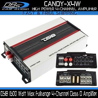 DS18 CANDY-X4W 4 Channel Fullrange Amplifier 1600W Max Class D Mini Speaker Amp