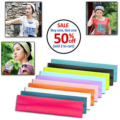 Womens Mens Unisex Sport Sweat Sweatband Headband Yoga Gym H