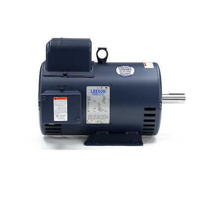 Leeson Electric Motor 132044.00 7.5 Hp 3450 Rpm 1-ph 230 Volt 184t Fr 132044
