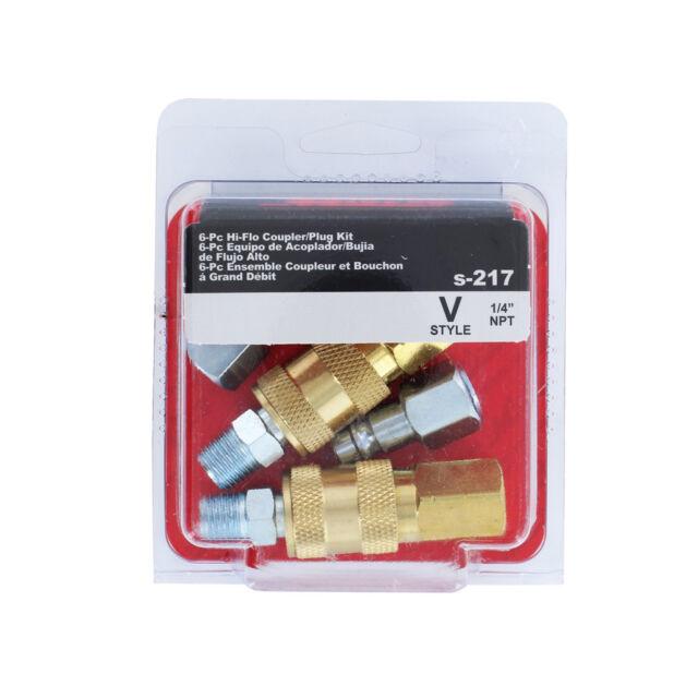 Milton S-217 NPT V Style Hi-flow Coupler and Plug Kit 6pcs | eBay on hose and plug, plug and plug, ring and plug, cap and plug, cup and plug, coil and plug, wire and plug, screw and plug, cord and plug, jack and plug, lamp and plug, switch and plug,