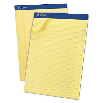 Ampad Perforated Writing Pad 8 12 X 11 34 Canary 50 Sheets Dozen 20220