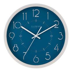 404-3833 La Crosse Clock Company 12.75 Pine Wood Silent Sweep Analog Wall Clock
