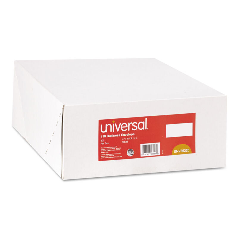 UNIVERSAL Side Seam Business Envelope Side #10 4 1/8 x 9 1/2 White 500/Box 36320