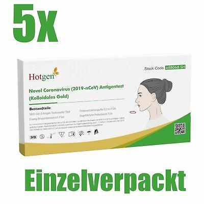5x Corona Schnelltest Selbsttest Laientest HOTGEN® Antigen Testkit Rapid BfArM