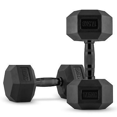 Juego de Mancuernas 2x17,5KG Entrenamiento Gimnasio Fitness Musculación Acero  segunda mano  España