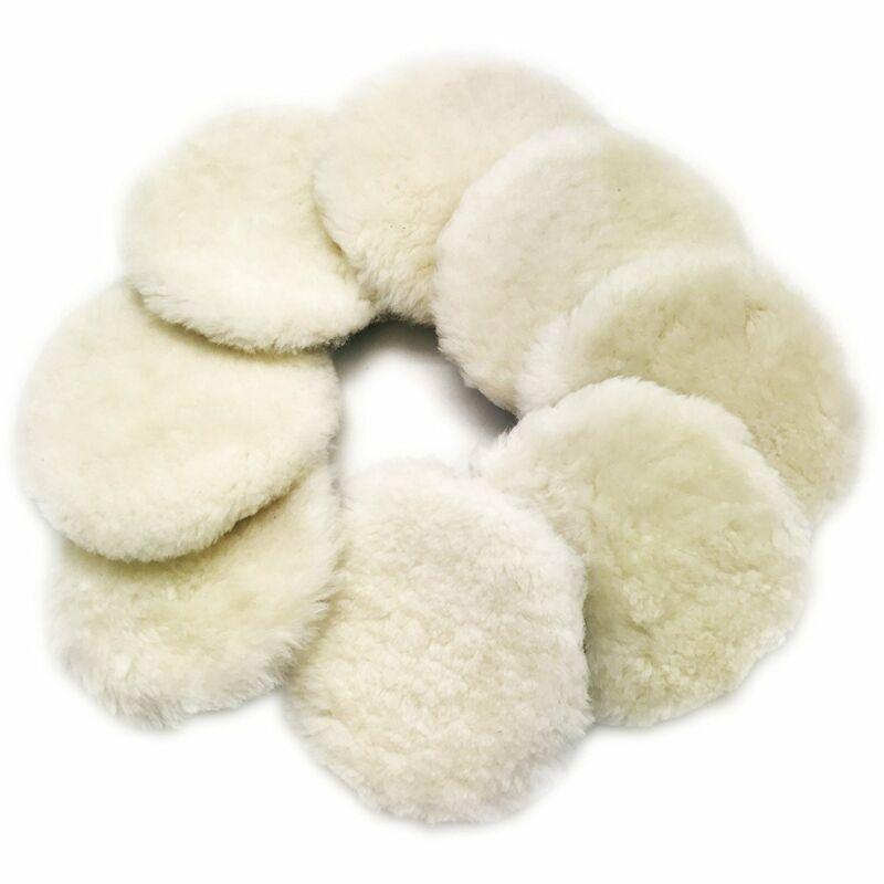 8pcs 3inch Polishing Pads Lamb Wool Buffer Pads Car Cleaning