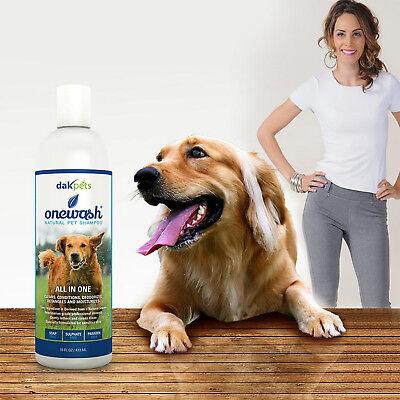 DakPets Dog Natural Shampoo Conditioner Sensitive Skin Coconut Oil Aloe Extract