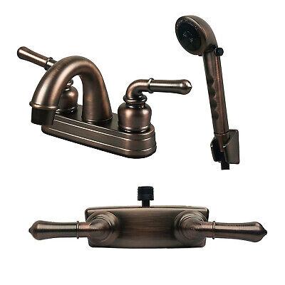 RV/Mobile Home Lav Faucet Hand-Held Shower Head Diverter Combo Oil Rubbed Bronze eBay Motors